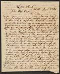 Letter from Joseph M. Lynch to Chief John Ross