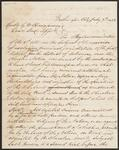 Letter from Elijah Hicks to Commissioner George H. Manypenny