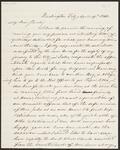 Letter from Chief John Ross to Sarah Stapler