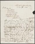 Draft Copy of Letter from Chief John Ross to David Carter, J. T. Adair, and L. W. Hildebrand