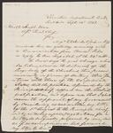 Draft Copy of Letter from Chief John Ross to Assistant Chief Joseph Vann