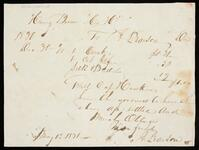 Statement of account from Henry Brown to A. Pearson