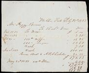 Statement of account of Peggy Brown to Richard Drew