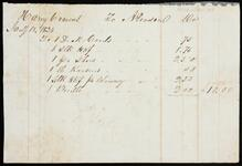 Statement of account of Nancy Cravens to A. Pearsons