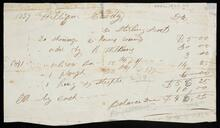 Statement of account of William Coody to Sterling Scoot
