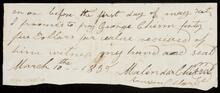 Promissory note from Ransom P. Clary to George Chism