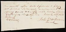 Promissory note from John McColom to Delilia Tottontisk