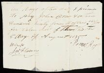 Promissory note from James Rogers to John Drew and Company