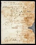 Account statement of Drew and Fields and W.L. Levitt for coats, vests and pants