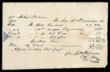 Statement for John Drew to James H. Stirman for sugar, stockings and kid gloves