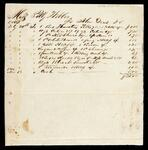 Account statement of Polly with John Drew