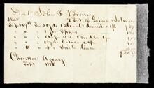 Account statement of John F Brown