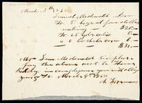Bill for the account of Samuel McDonald