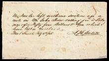 Note for $54.60 to A. H. Estelle with corresponding receipt from W. W. Fowler