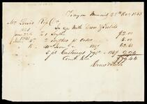 Account Statement of Lewis Ross