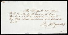 Promissory note from P. Dinckler to John Drew and Pete Sims