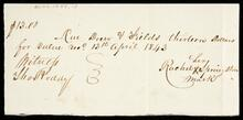 Promissory note from Rachel Springsteen to Drew and Fields