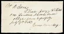 Promissory note from A. Harris to R. Fields
