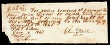 Promissory note from R. Miller to John Drew