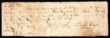 Promissory note from S. Reese to John Drew