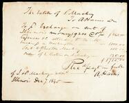 Receipt of payment from the estate of S. Mackey to A. Harris