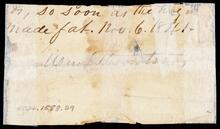 Paper fragment with date and Wm. Thornton
