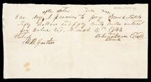 Promissory note to Drew & Fields from Betsy Vann for fifty dollars and fifty cents with interest for value received