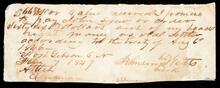 Promissory note from Johnson Watts to John Drew for sixty six dollars and eighty seven cents