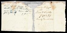 Receipt from John Drew to Daniel Riggs