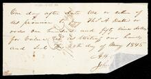 Promissory note by John Olmsted to pay Thomas A. Dale one hundred and fifty nine dollars