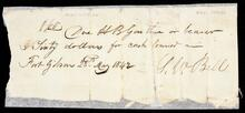 Promissory note from G.W. Bell to H.B. Garther