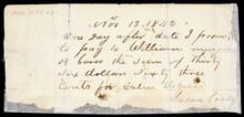 Promissory note From Susan Coody to William Musgrove