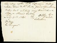 Promissory note from Ally Salisaw to Drew and Fields