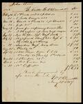 Receipted statement of John Drew's account payable to Williams P. Denckla