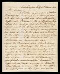 Letter from John Thorn in Washington City to John Drew