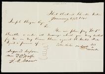Authorization by Tehn-Kater to Joseph Bryan to pay William P. Denckla