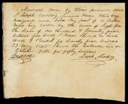 Bill of Sale by Joseph Coody for one Negro slave boy
