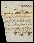 Letter from Jason Vann in Webbers Falls to John Drew requesting his presence