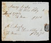 Financial record between Nancy Mackey, N. E. Mackey and Lewis Riley