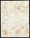Letter from William Drew to his brother John Drew