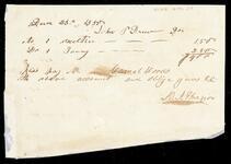 Financial record involving John Drew and D. I. Frazior