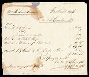 Receipted account statement for account of Richard Drew which totaled $113.35