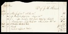 Account statement of William Poor