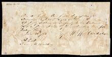 Promissory note of William W. Chisholm for $50.00