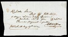 Receipted account statement of John Drew