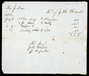 Receipted account statement of Mrs. J. Drew