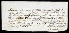 License and receipt by David Vann, Treasurer of the Cherokee Nation
