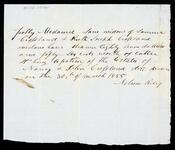 Note by Nelson Riley concerning cattle from Nancy and John Crossland estate