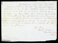Receipt by Attorney John King for $3,000.00