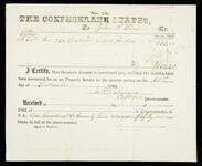 Officer certification for purchase of corn from John Drew for the Confederate States